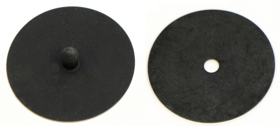 Black cartridge filter diaphragm engineered for reusable respirator face masks