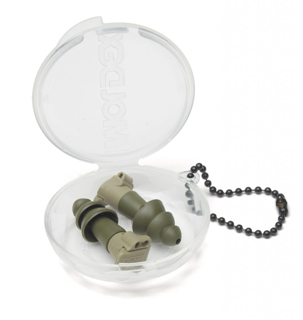 green military impulse hearing protection reusable earplugs in case