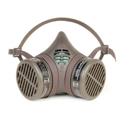 organic vapors reusable respirator face mask with additional cartridge filters