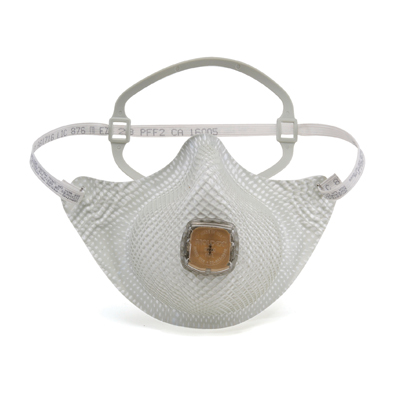 half-face disposable respirator face mask in white with vent